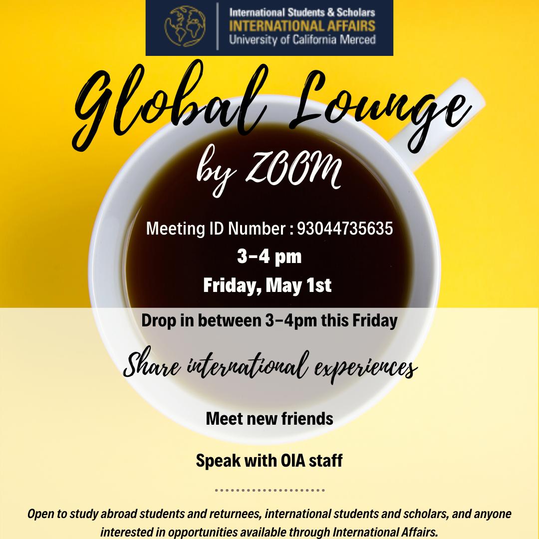 Global Lounge Flyer image
