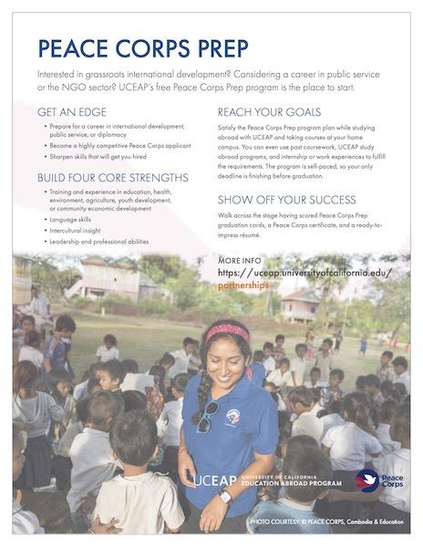 UCEAP Peace Corps Prep Program flyer