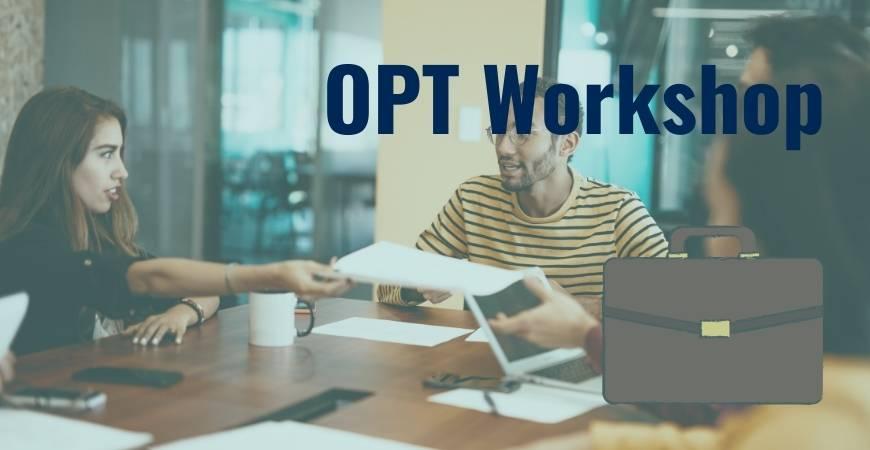 OPT Workshop Header